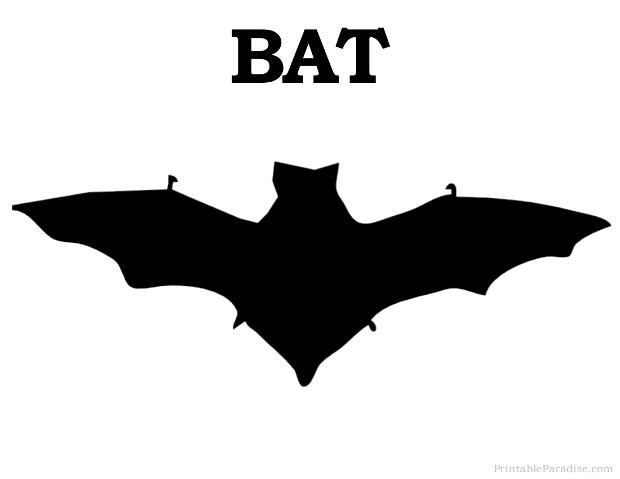 Print Free Bat Silhouette