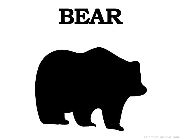 Printable Bear Silhouette - Print Free Bear Silhouette