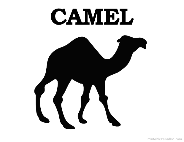 Printable Camel Silhouette