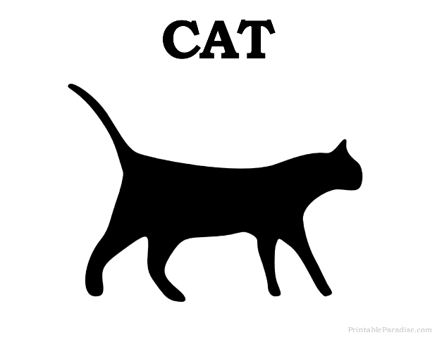 Printable Cat Silhouette Print