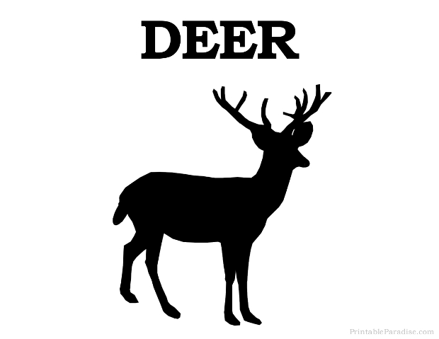 image relating to Printable Deer Targets known as Printable Animal Silhouettes - Print Absolutely free Shadow Pets