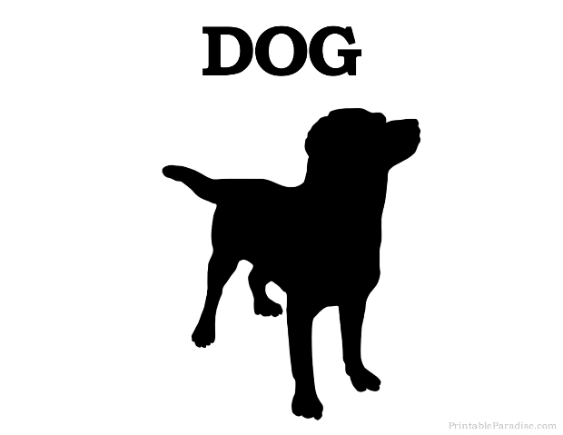 Printable Dog Silhouette