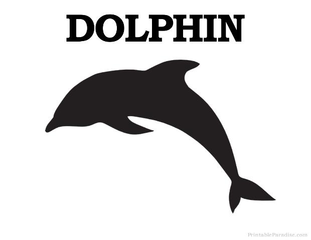 Printable Dolphin Silhouette - Print Free Dolphin Silhouette