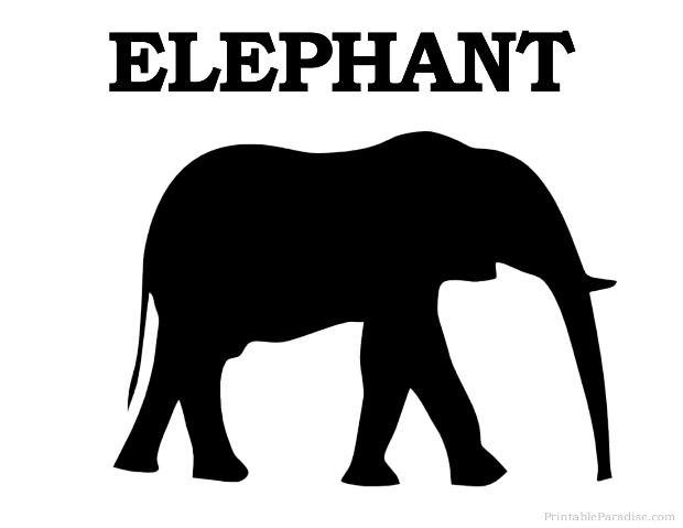 Printable Elephant Silhouette - Print Free Elephant Silhouette