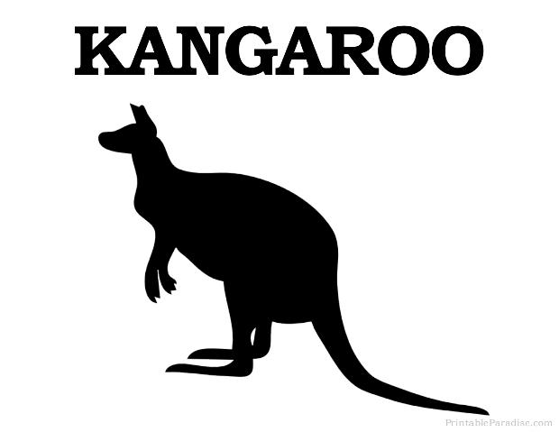 Print Free Kangaroo Silhouette