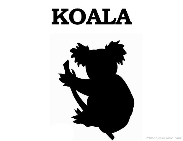 Printable Animal Silhouettes Printable Koala Silhouette