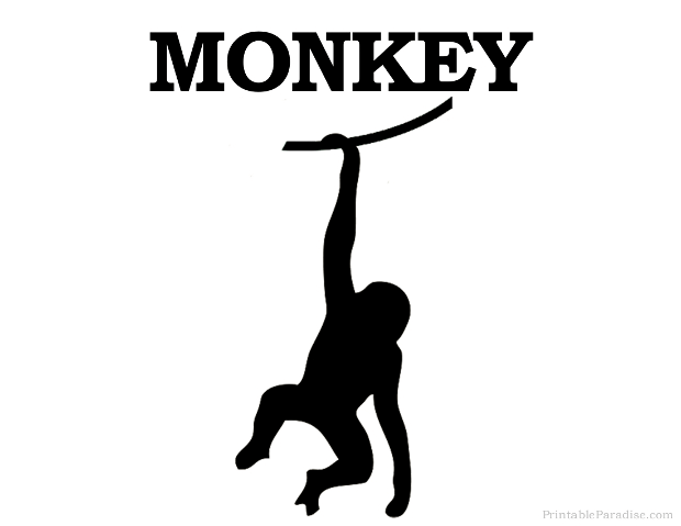 Printable Monkey Silhouette