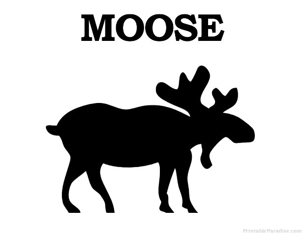 Printable Moose Silhouette