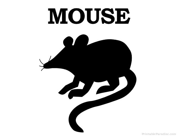 Printable Mouse Silhouette - Print Free Mouse Silhouette