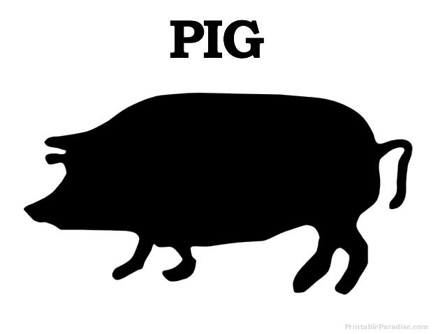 printable pig silhouette