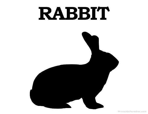 printable rabbit silhouette