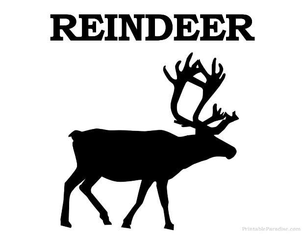 graphic relating to Deer Silhouette Printable known as Printable Reindeer Silhouette - Print Free of charge Reindeer Silhouette