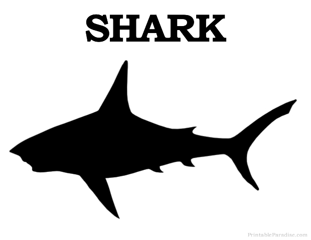 Printable Shark Silhouette