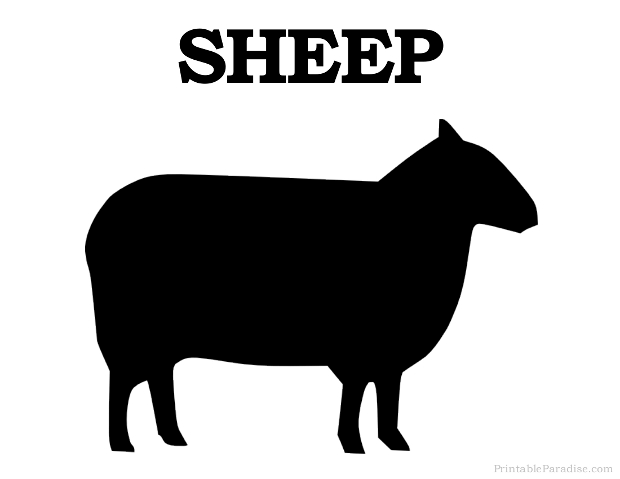 Printable Sheep Silhouette