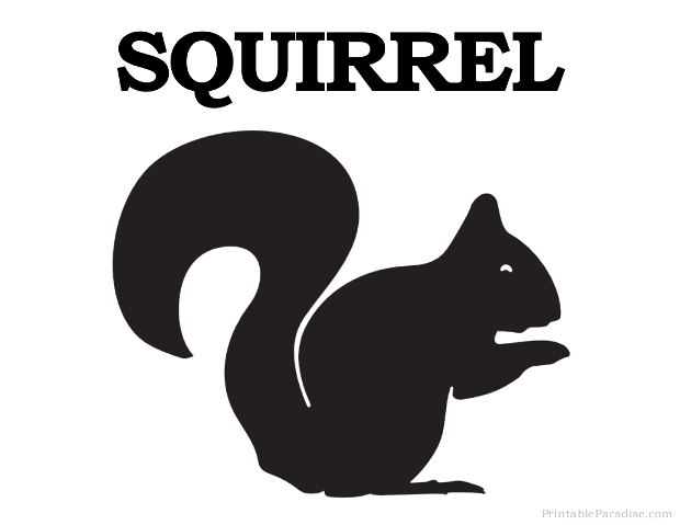 Printable Squirrel Silhouette - Print Free Squirrel Silhouette