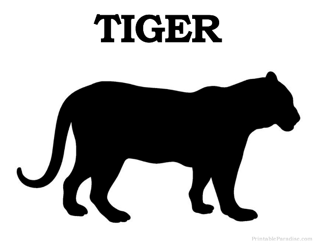 Printable Tiger Silhouette