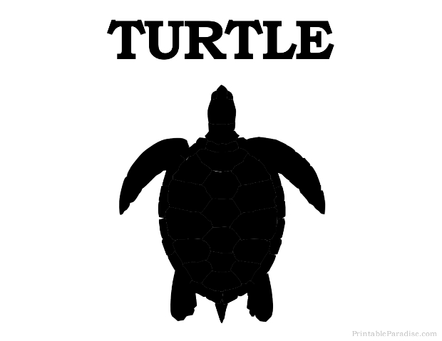 Printable Turtle Silhouette