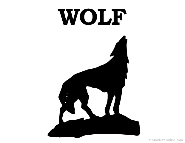 Printable Wolf Silhouette - Print Free Wolf Silhouette