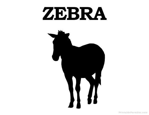 Printable Zebra Silhouette Print Free Zebra Silhouette