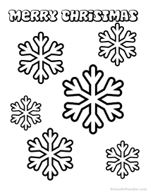 christmas snow flacks coloring pages - photo#34