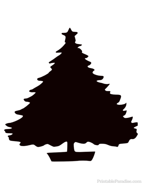 Printable Christmas Tree Silhouette