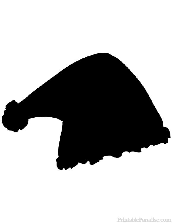 Printable santa claus hat silhouette