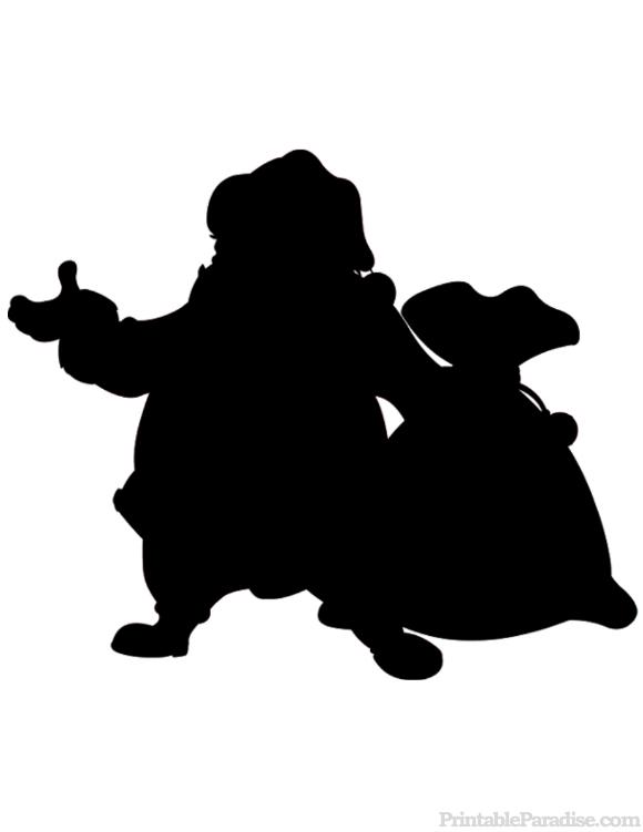 printable santa claus silhouette - Printable Santa