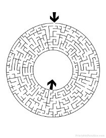 Printable Round Maze - Difficult