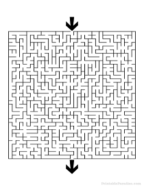 Printable Square Maze - Difficult