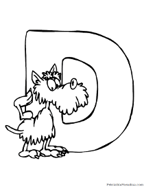 The Letter D Coloring Pages Amazing Diddle Alphabet Color School