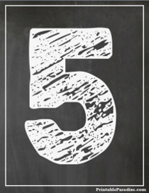 Printable Chalkboard Numbers