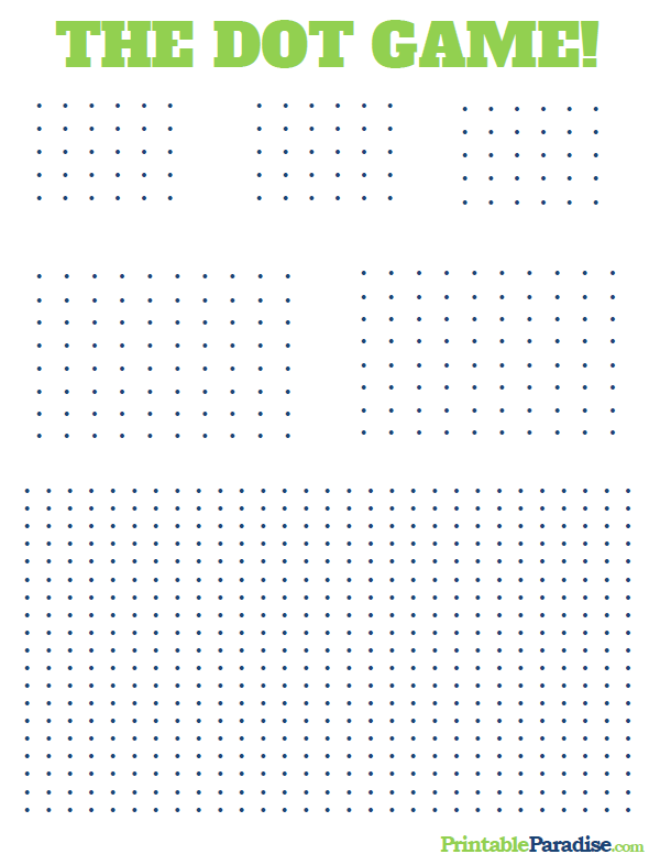 Nifty image within printable dots game