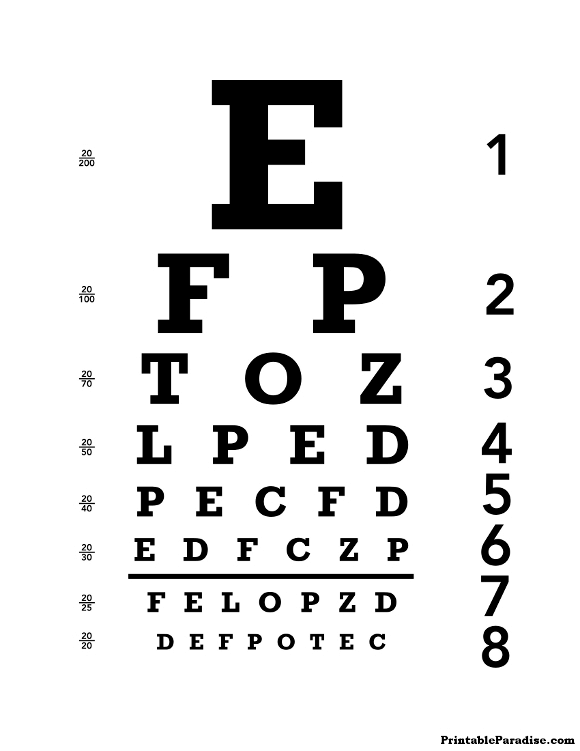 printable eye chart - Print Free Pictures