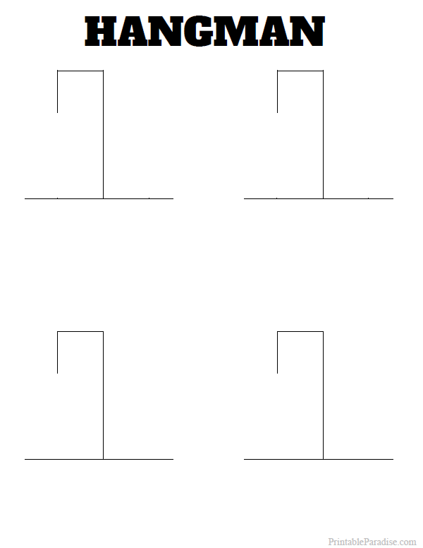 Printable Hangman Game