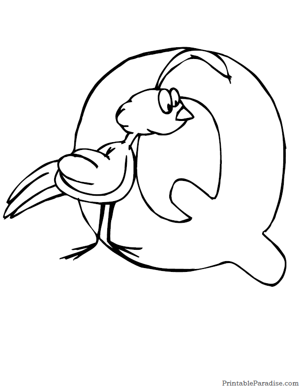 printable letter q coloring page