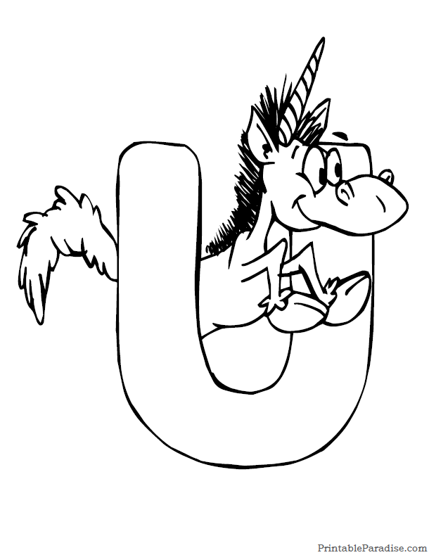 Printable Letter U Coloring Page
