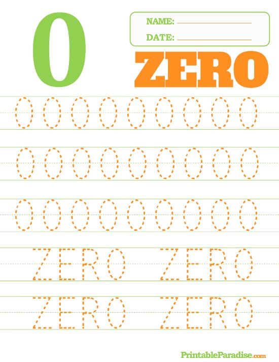 Number 0 Tracing Worksheet – Printable Name Tracing Worksheets