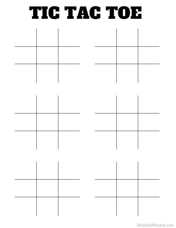 Printable Tic Tac Toe Board on Number Coloring Pages