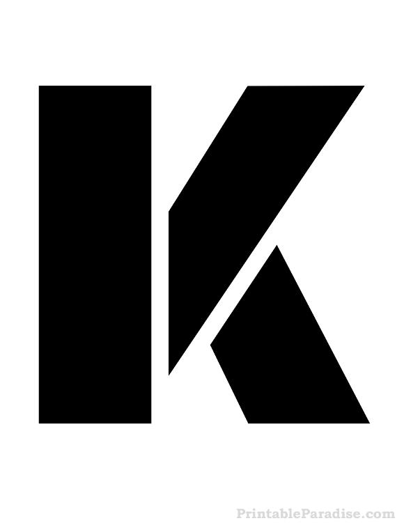Printable Letter K Stencil