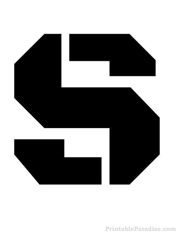 Printable Letter S Stencil Print Stencil for Letter S