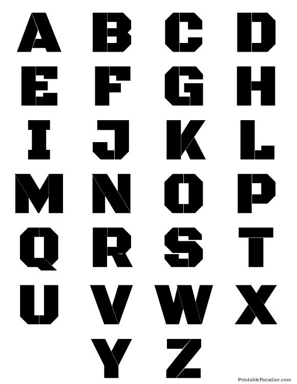 printable stencil letters