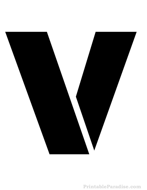 Printable Letter V Stencil - Print Stencil for Letter V