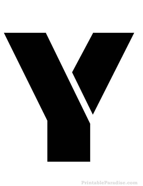 Printable letter y stencil print stencil for letter y printable letter y stencil spiritdancerdesigns Images