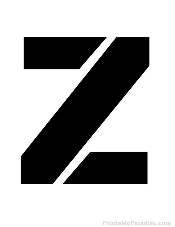 Printable Letter Z Stencil