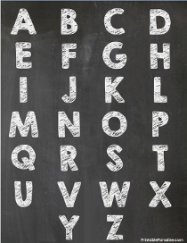Alphabet Bubble Letters on one Page