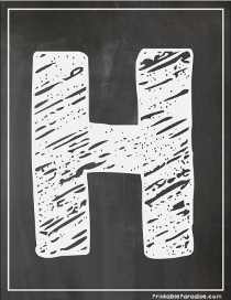 Printable Chalkboard Letters Print Chalkboard Abc S