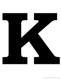 K Alphabet Letter Printable Silhouette Letters - Print Silhouette ABC's