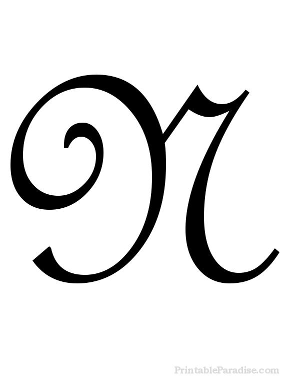 Printable Cursive Letters Free Fancy Cursive Letters