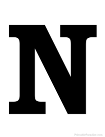Decisive image for printable letter n