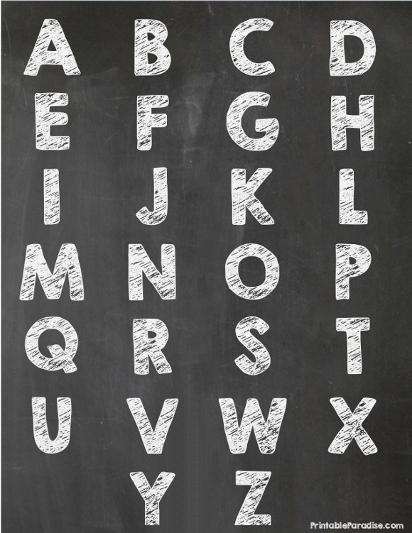 Printable Alphabet Letter Chalkboards